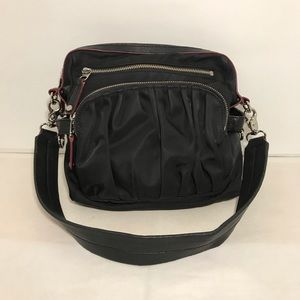 MZ Wallace Black Shoulder Purse Nylon and Leather